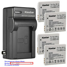 Kastar Battery Wall Charger for Canon NB-4L NB-4LH & Canon PowerShot ELPH 300 HS