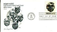 1980 INDIAN ART HEAD MASKS THIS IS BY THE CHILKAT TINGIT TRIBE ARTMASTER UA  FDC
