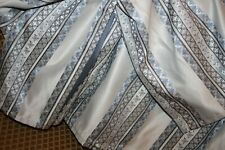 J. Queen New York King bedskirt silver blue slate geometric striped pattern Nice
