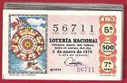 AÑO COMPLETO 1970 LOTERIA NACIONAL DEL SABADO 36 DECIMOS,