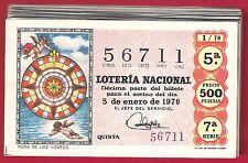 AÑO COMPLETO 1970 LOTERIA NACIONAL DEL SABADO 36 DECIMOS