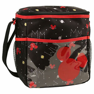 Diaper Bag Lunch Tote Insulated Disney Mickey Black Red Planet Constellation NWT