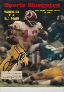 Larry Brown Washington Redskins Signed Autograph Auto 1972 Sports Illustrated SI