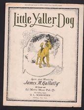 Little Yaller Dog James M Gallatly 1919 Sheet Music