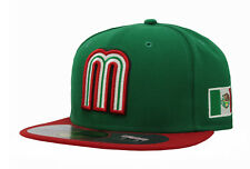 New Era 59Fifty Cap Mexico World Baseball Classic Mens Adult Green Red 5950 Hat