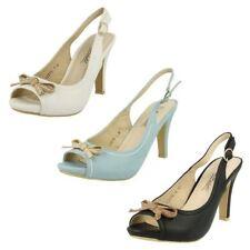 Zapatos de tacón de mujer Anne Michelle color principal azul sintético