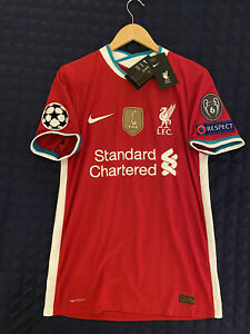 Liverpool Home 20/21 Authentic Virgil van Dijk Champions League Kit