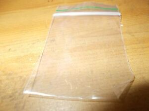 100 x Small Plastic Clear Baggies Baggy Bags Grip Self Seal Resealable Zip 45x60
