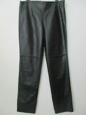 MODA INTERNATIONAL BLACK SOFT LEATHER LINED PANTS SIZE 12 - NEW
