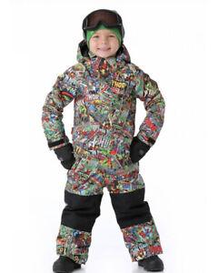 Marvel Burton Dryride Youth Toddler One Piece Snowsuit Size 4T