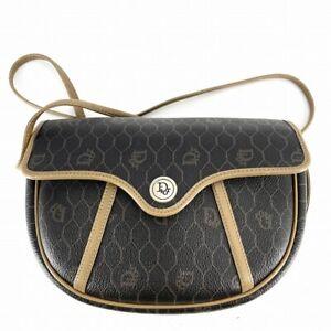 Vintage Logo Christian Dior Honeycomb Pattern Shoulder Bag Cross Body # DV64-141