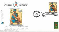 1996**FDC 1°JOUR**COMITE INTERNATIONAL OLYMPIQUE-VOLLEY.PLAGE-ATLANTA*TIMBRE USA