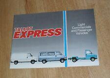 Talbot Express Brochure 1985 - Van & Sportsman Minibus