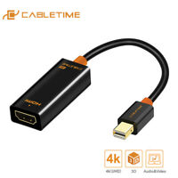 Cabletime Thunderbolt Male-Female 4K Mini Display Port to HDMI Adapter for PC