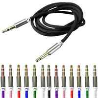 1PC Black Male to Male Car Aux Auxiliary Cord Stereo Audio Cable For Phone iPod