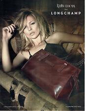 Publicité Advertising 088  2010   Longchamp  sac dessiné  par Kate Moss