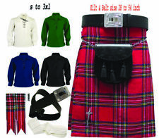 """100%Original Royal Stewart Men's Traditional 08 Pieces Kilt Outfit Size 28""""to52"""""""