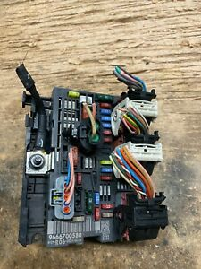 9666700580 Peugeot Citroen Fuse Box Control Unit BSM-R06-00 WITH PLUGS