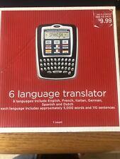6 language translator English, French, Italian, German, Spanish, and Dutch New