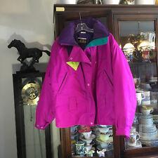 Vintage Ski Jacket Retro Bright Womens Size 12 80's -90's Sunice