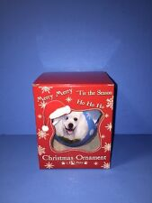 "NEW ! Poddle White Dog Shatterproof Christmas Ball Ornament 3"" by E & S Pets"