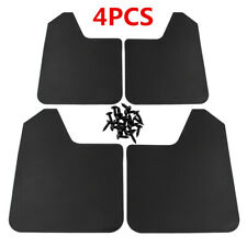 Black 4Pcs Universal Car Truck Plastic Mudflaps Splash Guards Fender Accessories