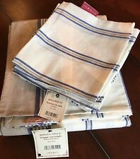 "Comptoir de Famille ""Ritournelle"" Cream/Blue/Khaki TABLECLOTH & NAPKINS (Paris)"