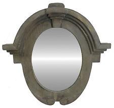 Trumeau Cadre Miroir Déco Bois Salle de Bain Glace Ovale Oeil de Boeuf 50 cm