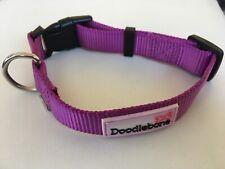 "NEW Purple DOODLEBONE Nylon COLLAR size SMALL 12 - 14"" Dog Puppy Clip Fastening"