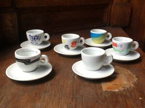 ILLY artist espresso cups, Limited edition, 1993 multiple artist set.