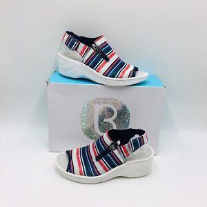 Bzees Women's Delicious Washable Comfort Slingback Sandals - Stripe