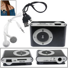 MP3 Music Player Mini Metal Clip Kit Set Support 32GB Micro SD TF Card Earphone