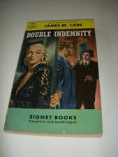 DOUBLE INDEMNITY by JAMES M. CAIN, SIGNET #784, 1ST PRINT, 1950, VINTAGE PB!