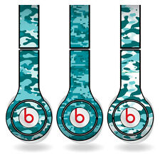 Removable Vinyl Decal - Beats Solo HD Skins - Teal Camouflage Print Set of 3