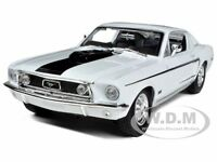 1968 FORD MUSTANG CJ COBRA JET WHITE 1/18 DIECAST MODEL CAR BY MAISTO 31167