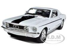 1968 FORD MUSTANG CJ COBRA JET WHITE 1/18 DIECAST MODEL CAR BY MAISTO 31167