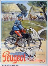 """Moto Peugeot Motorcycle - 24""""x36"""" Canvas Motorcycle Poster on Canvas"""