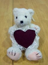 GANZ Heritage Collection TEDDY BEAR W/ HEART Plush NEW