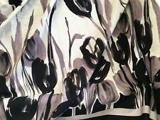 coupon de tissu pur coton coton base  couture banc  noir fleur  : 3.m ;  pant
