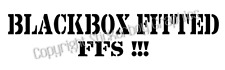 Blackbox Fitted Funny Car Sticker Decal  Young driver Insurance Black box 220mm