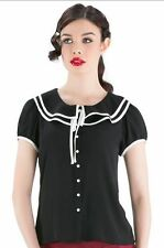 Collared Cap Sleeve Blouse No Tops & Shirts for Women