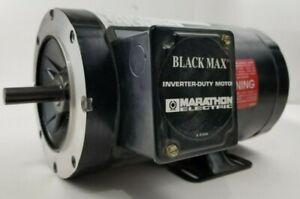 Marathon Black max inverter duty motor. 575v. 1750 rpm 1hp mod:56H17T5312B P