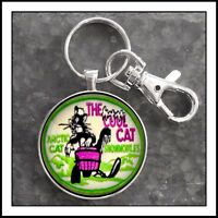 Vintage Arctic Cat Snowmobile Shoulder Patch Photo Keychain Cool Cat charm gift