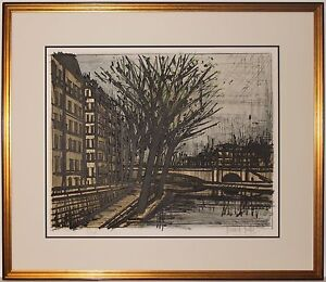 Listed French Artist Bernard Buffet Original Signed Color Lithograph