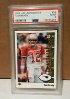 2002 TOM BRADY UPPER DECK AUTHENTICS #52 GRADED 9 PSA PATS-BUCS MVP GOAT QB !!!!