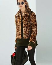 ZARA LEOPARD PRINT FURRY FAUX FUR SHORT JACKET SIZE M - NEW