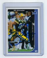 PACKERS Bill Schroeder signed card 2002 Score #93 AUTO Autographed Green Bay