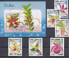 Afghanistan 1999 - Set + Block - Bloemen/Flowers/Blüte (Orchids)