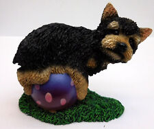 LIVING STONE YORKSHIRE TERRIER PUPPY ON BALL,  ITEM 54035