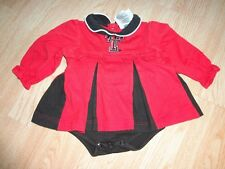 Infant/Baby Girls Texas Tech Red Raiders 6/9 Mo Cheerleader Cheer Outfit